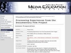 Processing Experiences from the Documentary Film Project Lesson Plan
