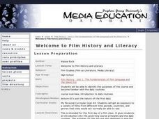 Welcome to Film History and Literacy Lesson Plan