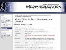 Who's Who in Early Documentary History Lesson Plan