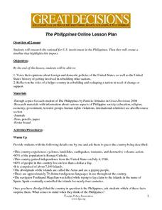 The Philippines-U.S. Involvement Lesson Plan