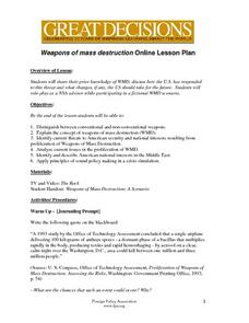 Weapons of Mass Destruction Lesson Plan