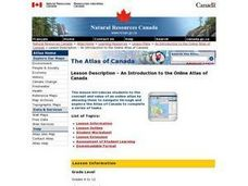An Introduction to the Online Atlas of Canada Lesson Plan