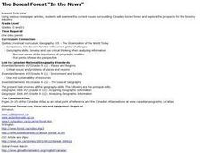 "The Boreal Forest ""In the News"" Lesson Plan"