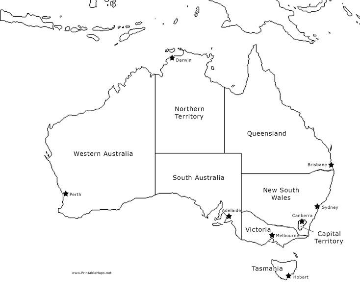 Australia Map Labeled.Australia Map Labeled Graphic Organizer For 4th 12th Grade