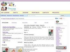 Plush Paint Pail Pals Lesson Plan