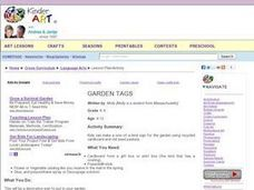 Garden Tag Lesson Plan