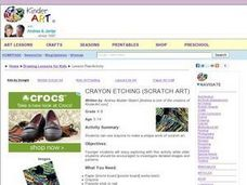 Crayon Etching (Scratch Art) Lesson Plan