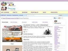Classic Still Life Drawing Lesson Plan