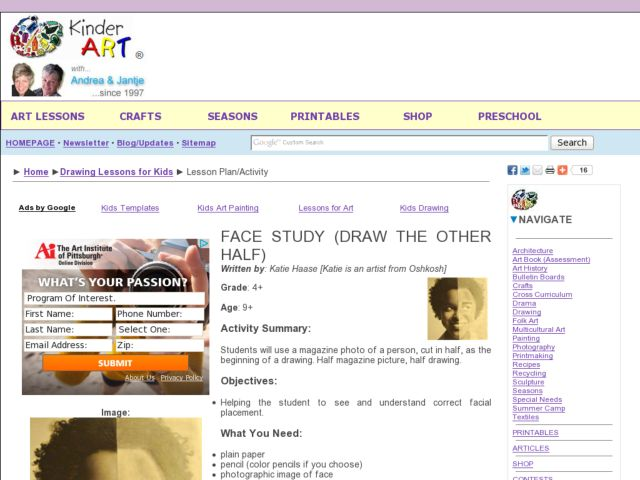 Face Study: Draw the Other Half Lesson Plan