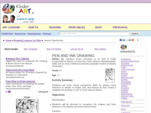 Pen and Ink Drawing Lesson Plan