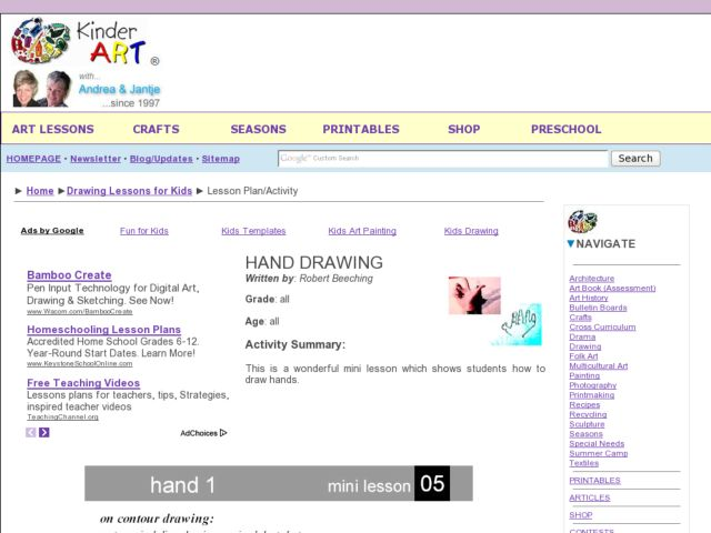 Hand Drawing Lesson Plan