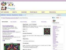 Radial Letters Lesson Plan