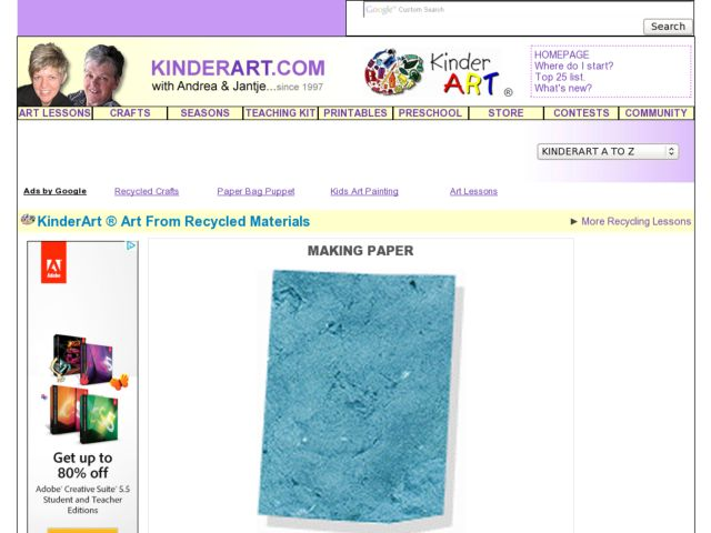 Making Paper: Recycled Art Lesson Plan