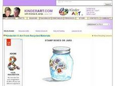 Stamp Boxes or Jars: Recycled Art Lesson Plan