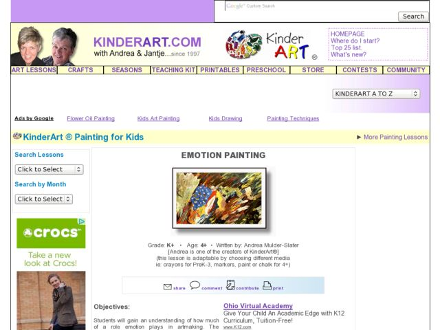 Emotion Painting Lesson Plan
