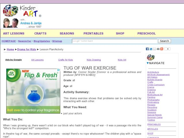 Tug of War Exercise Lesson Plan