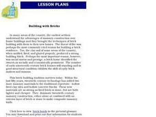 Building With Bricks Lesson Plan