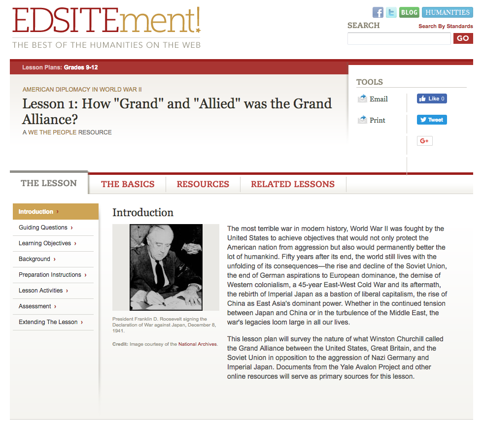 "How ""Grand"" and ""Allied"" Was the Grand Alliance? Lesson Plan"