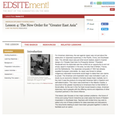 "The New Order for ""Greater East Asia"" Lesson Plan"
