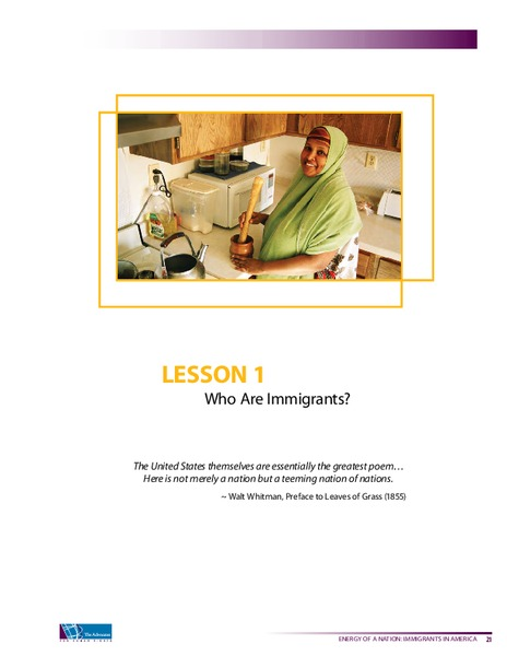 Who are Immigrants? Lesson Plan