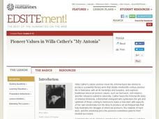 Pioneer Values in Willa Cather's My Antonia Lesson Plan