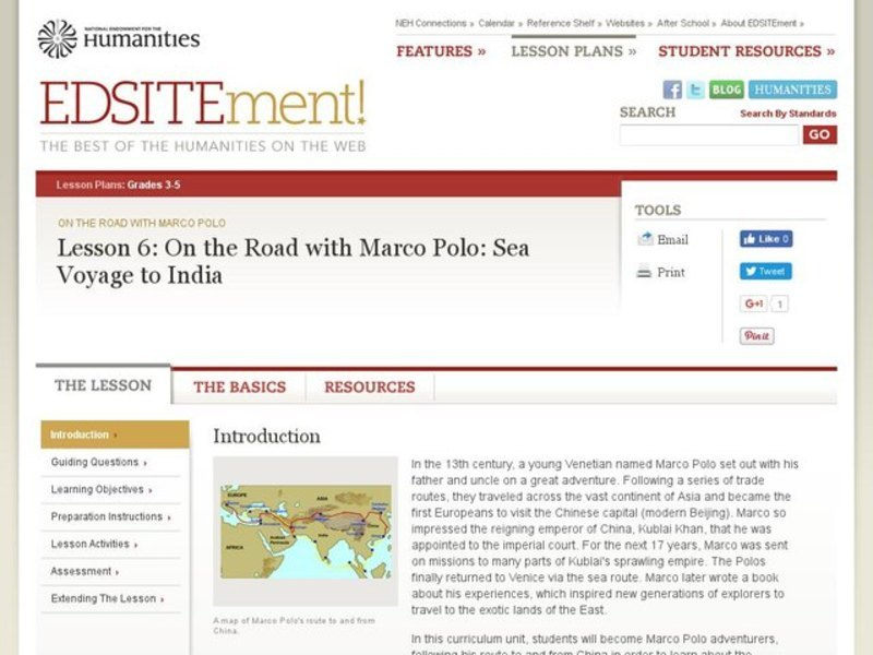On the Road with Marco Polo: Sea Voyage to India Lesson Plan