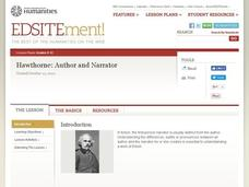 Hawthorne: Author and Narrator Lesson Plan