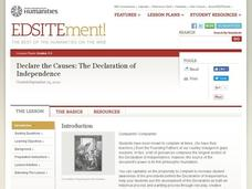 Declare the Causes: The Declaration of Independence Lesson Plan
