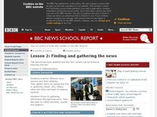 Finding and Gathering The News Lesson Plan