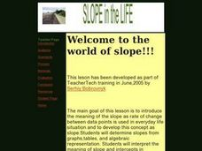 Welcome to the World of Slope! Lesson Plan