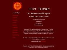 Out There:  An Astronomical Project Lesson Plan