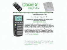Calculator Art Lesson Plan