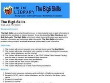 The Big6 Skills Lesson Plan