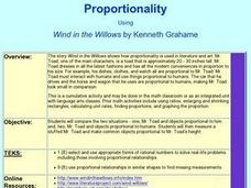 Proportionality Using Wind in the Willows Lesson Plan