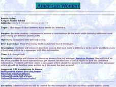 The Impact That Women Have Made in America Lesson Plan