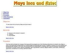 Maya, Inca and Aztec Lesson Plan