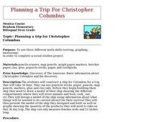Planning a Trip for Christopher Columbus Lesson Plan