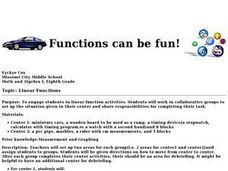 Functions Can Be Fun! Lesson Plan