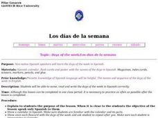Days of the Week/Los D??as De La Semana Lesson Plan