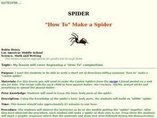 "Spider ""How To"" Make a Spider Lesson Plan"