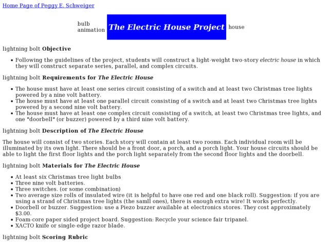 The Electric House Project Activities & Project