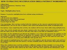 How to Practice Multiplication Drills Without Worksheets Lesson Plan