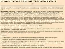 Rocketing in Math and Sciences Lesson Plan
