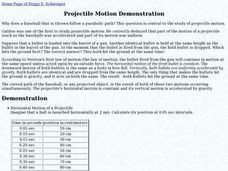 Projectile Motion Demonstration Lesson Plan