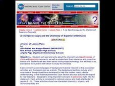X-ray Spectroscopy and the Chemistry of Supernova Remnants Lesson Plan