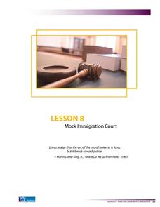 Mock Immigration Court Lesson Plan