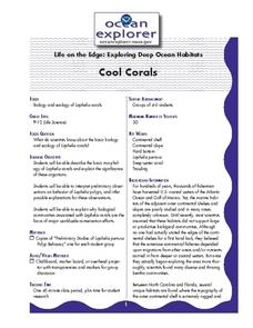 Life on the Edge: Exploring Deep Ocean Habitats Cool Corals Lesson Plan