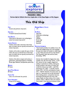 This Old Ship Lesson Plan