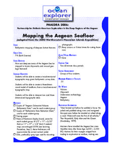 Mapping the Aegean Seafloor Lesson Plan
