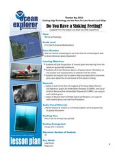 Do You Have a Sinking Feeling Lesson Plan